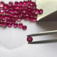 Batu Natural Ruby Round Cut Shape Mata Tabur Stempel Cincin Anting GEM