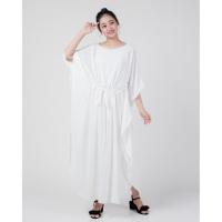 Devi White Kaftan Muslim Dress Baju Wanita Best Seller Shirt 3688