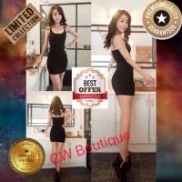 Mini Dress Bodycon Tanktop Stretch Night Dress Party Sexy Korean Impor