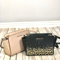 NWT Authentic MK Michael Kors Medium Selma Pink or Black Handbag