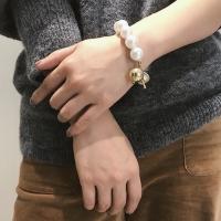 Gelang Korea Mutiara Bracelet Big Pearl Gold Simple Aksesoris wanita