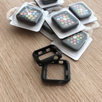 Apple Watch 4 Case casing SILICONE BLACK HITAM TPU jelly 40mm 44mm
