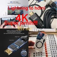 Kabel Lightning to hdmi 4K Super jernih 2m iphone apple to hdmi 2m 4K