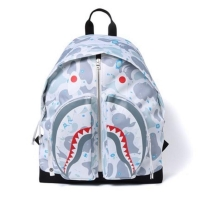 BAPE SPACE CAMO SHARK DAY PACK BACKPACK WHITE AUTHENTIC VERY RARE ITEM