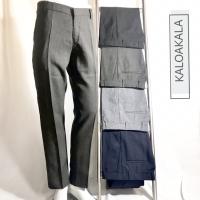 Celana Formal Panjang Pria bahan Wool warna abu muda , abu tua , hitam