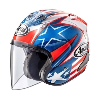 Arai SZ-RAM 5 Hayden SB Helm Half Face - Graphic White Blue