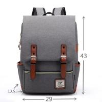 Korean Style Backpack / Tas Ransel / DENGAN COLOKAN CHARGER-KABEL