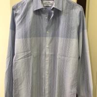 CALVIN KLEIN Body Fit Kemeja Shirt Lengan Panjang Biru Muda Original