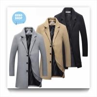 Jaket jas blazer pria bahan wol / Woolen Long coat for men