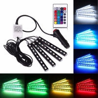 LED LAMPU KOLONG + Remote Dekorasi Dashboard Mobil 16 Warna DRL RGB