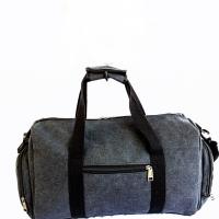 Tas travel kanvas / tas olahraga / tas selempang import - Hitam