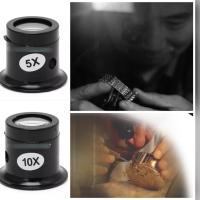 KACA PEMBESAR 10x Loop Microscop Mikroskop Jam Tangan Bahan Craft Mini