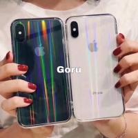 Soft case iphone X Xr Xs max 6 6s 7 8 + plus clear aurora softcase ori