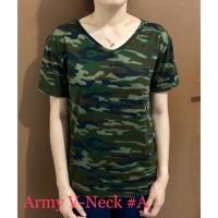 Baju Kaos Wanita Army Loreng Motif Pattern Best Seller - 3839