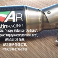 Knalpot racing Austin made in UK slip on Kawasaki New Ninja 250 2019