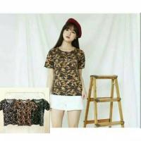 Baju Kaos Wanita Army Loreng Best Seller Shirt 3999