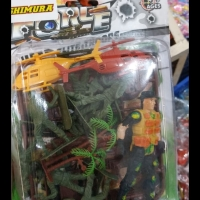 Mainan anak tentara army soldier perang helicopter force tank set