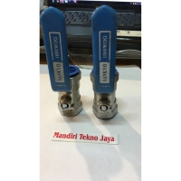"Kran air ball valve stainless steel SANKYO 1/2"" (inch) asli"