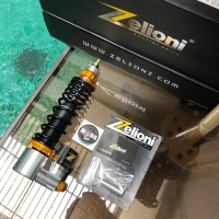 Shock Tabung Zelioni Chrome Gold Front Vespa Sprint Iget Prima 3V Iget