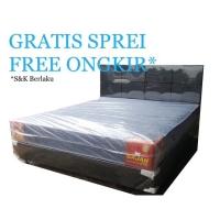 Springbed Uniland 180x200 Standard Kasur Mattress + Divan Bedset