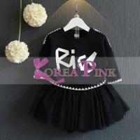 SALE.. SALE.. BAJU ANAK PEREMPUAN / SETELAN / GIRLSET KOREA PINK BLACK