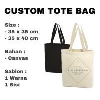 Custom Tote Bag Kanvas Tas Seminar Canvas Bag Sablon Tas Souvenir