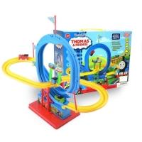 Mainan anak track thomas and friends lovely puzzle 360 kereta orbit