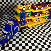 Mainan anak mobil isi 9 mobil balap sedan truk jumbo mobil mobilan