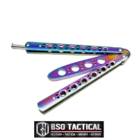 """Pisau Latihan Balisong Benchmade Butterfly Trainer 4"""" EDC Multicolor"""