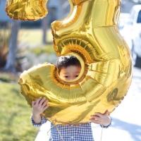 Balon foil huruf angka jumbo XL 100 cm / 1 m gold emas silver perak