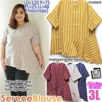 Baju Atasan Wanita Serene Blouse 3L XXXL JUMBO BIGSIZE BESAR CUTE LUCU