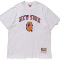 BAPE x NBA x Mitchell&Ness New York Knicks T-Shirt Size S KAOS NBA