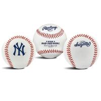 Rawlings Official MLB Team Logo Baseball Bola Ball Yankees