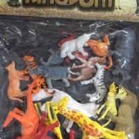 Mainan anak hewan animal kingdom karet binatang ternak hutan lengkap
