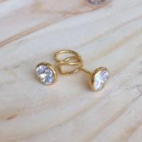 Anting Bayi Emas Kuning 70 % Giwang Toge Gold Earring Permata