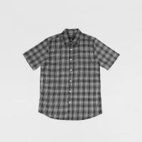 Kemeja Oneil Linen Shirt Black white Microplaid Original not zara bape