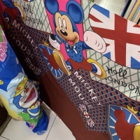 Kain Sprei Katun Motif Disney Mickey Mouse Donald Duck