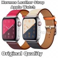 Strap apple watch iwatch 1 2 3 4 tali hermes kulit leather 38 40 42 mm