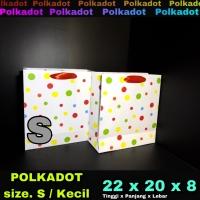 paper bag / tas kertas / paperbag / ultah kado / POLKADOT S Kecil