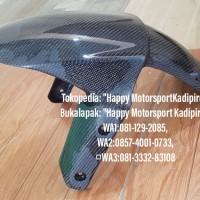 Slebor depan bahan carbon kevlar original khusus Kawasaki Z800 2014up