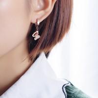 Anting Titanium Rose Gold Asli Wanita Korean Fashion Anti Karat AA012