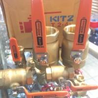 "Ball valve Kitz 1/2 inch ; Original 1/2"" Kuningan / Brass"