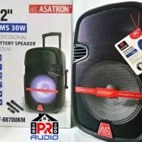 Speaker Portable Wireless Meeting Asatron HT-8870 ( 12 Inch )