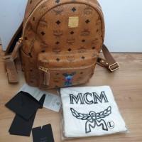 Backpack tas ransel MCM small cognac Rabbit 2 colors Original