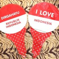 balon tongkat dirgahayu republik indonesia foil merah putih