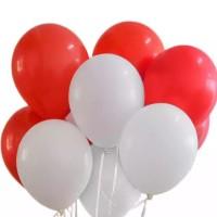 Balon Latek Latex Doff Merah Putih Dirgahayu HUT RI Agustus Indonesia