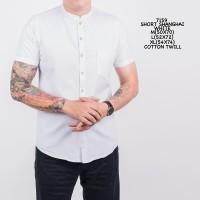 Kemeja Polos Pria Short Grandad | Baju Cowok Polosan Kerah Shanghai