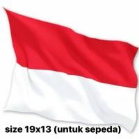 bendera indonesia merah putih kain sepeda size 19 x 13