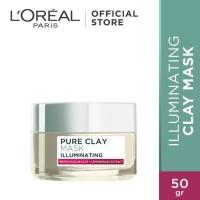 Loreal pure clay mask 50g illuminating detox antipores