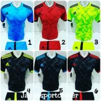 Baju Futsal Jersey Olahraga Volly Kaos Bola Setelan Voli Adidas